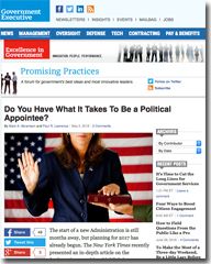 Do You Have What It Takes To Be a Political Appointee?