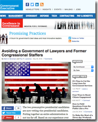 Avoiding a Government of Lawyers and Former Congressional Staffers