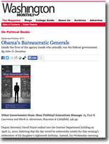 Obama's Bureaucratic Generals